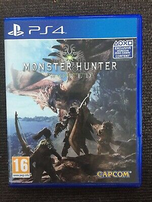 AU18 • Buy Monster Hunter World - PS4 PlayStation 4 Game (UK Edition) - Very Good Condition