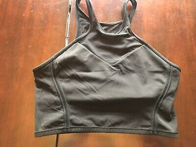$ CDN52 • Buy Lululemon Get It Om Bra Size 10 Black Long Line Mesh