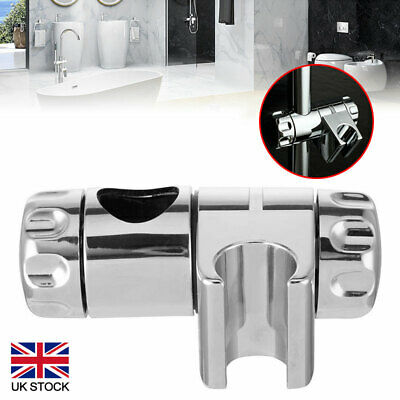 Chrome Replacement Shower Head Holder Bracket Slider Rail Kit Clamp Adjustable • 7.27£
