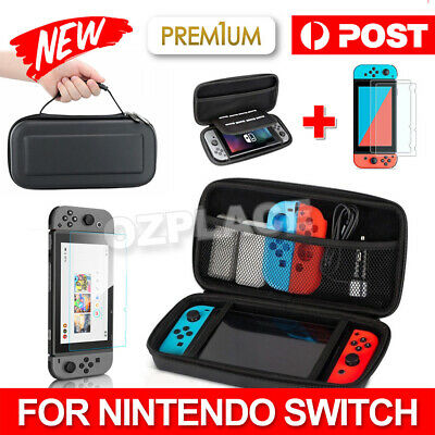 AU12.95 • Buy For Nintendo Switch Carry Bag Storage Case Console Protect Shell Tempered Glass