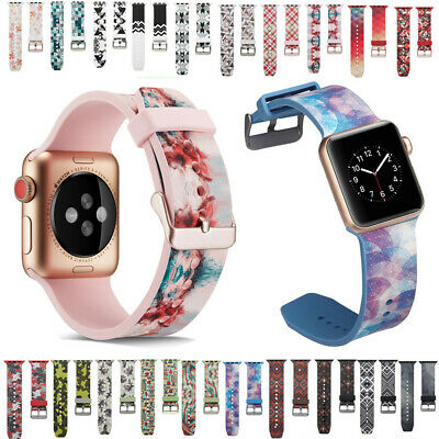 $ CDN12.87 • Buy Silicone Replacement Band For Apple Watch Series 5 4 3 2 1 38/42/40/44mm 20Kinds