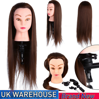 26  Salon Hair Styling Hairdressing Practice Doll Head Training Mannequin +Clamp • 13.99£