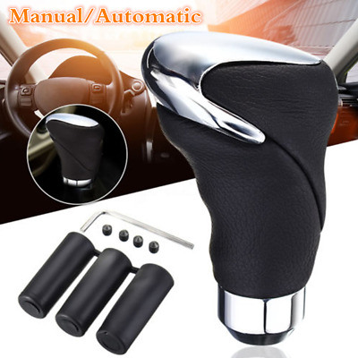 $14.62 • Buy Manual/Automatic Car Shift Knob Genuine Leather Gear Stick Shifter Lever