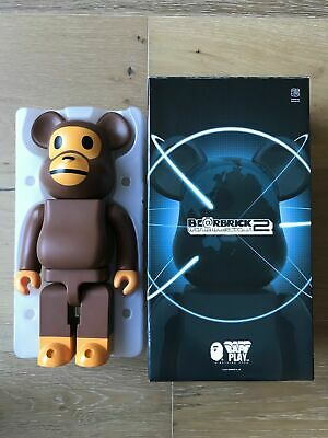 $1599 • Buy Authentic Medicom Bearbrick 2012 Bape Play Baby Milo 400% Japan Ltd Bearbrick