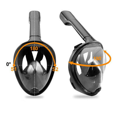 AU37.37 • Buy Anti-Fog Swimming Full Face Mask Surface Diving Snorkel Scuba For GoPro Beach