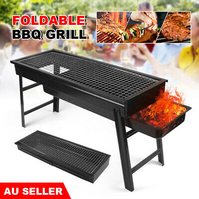 AU24.95 • Buy Portable BBQ Grill Folding Barbecue Charcoal Patio Outdoor Camping Picnic Smoker