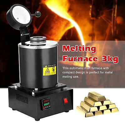 1400W Automatic Melting Furnace 3kg High Temperature Gold Metal Melting Furnace • 168.98£