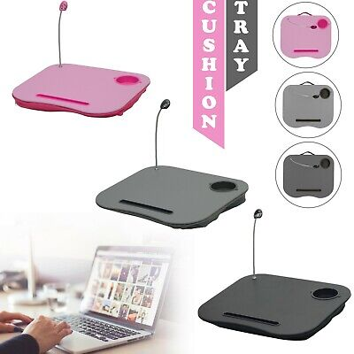 Laptop Tray Cushion With Easy Reading Table CupHolder And LED Light Work Station • 9.16£