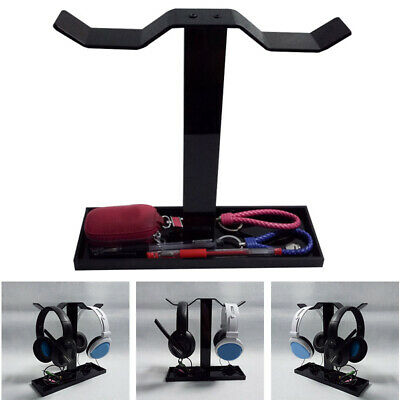 AU30.99 • Buy Headphone Stand Acrylic Dual Balance Headset Stand Gaming Headset Hanger Holder