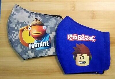 $ CDN21.38 • Buy 2 Roblox Poke Fortnite Fishstick Washable Reusable Kids 6-12 Face Cover Mask