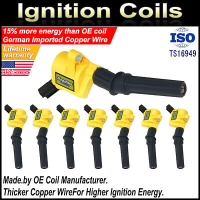 $43.23 • Buy 8 Motorcraft Ignition Coils DG508 For Ford Lincoln Mercury Super Duty 4.6 5.4 V8