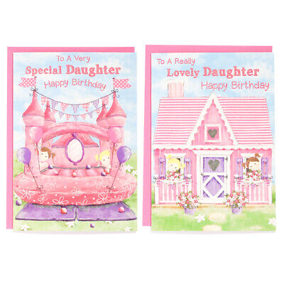 Happy Birthday To A Very Special Daughter ( Bouncy Castle) Free P&p  • 1.49£