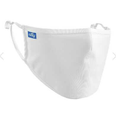 Mouth 4 Ply Face Mask Covering Reusable Adjustable Washable Adult White Mask • 11.99£