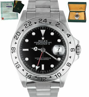 $ CDN9857.67 • Buy MINT 1999 Rolex Explorer II SWISS ONLY 16570 Stainless 40mm GMT Automatic Black