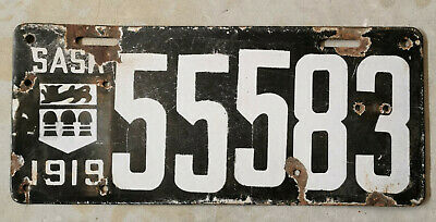 $ CDN306.67 • Buy 1919 Saskatchewan Canada Porcelain License Plate.
