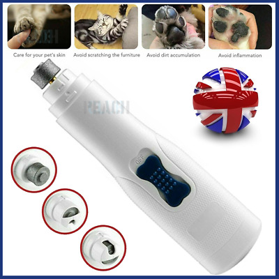 £10.54 • Buy Pet Dog Cat Nail Grinder Safe Claw Grooming Grinder Electric Nail File Tool UK