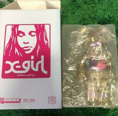 $1875 • Buy MEDICOM TOY BE@RBRICK X-girl 2020 400 Bearbrick X Girl Transparent fluorescence