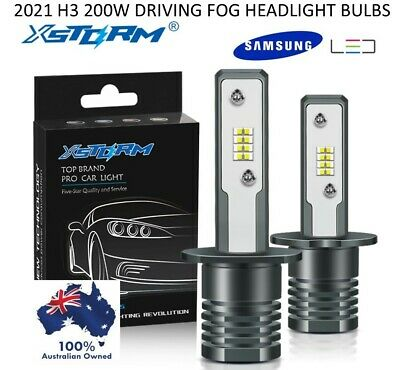 AU35.95 • Buy 2x 2021 H3 200w Samsung Led Headlight Fog Driving Light Bulb Car Lamp Globe Au