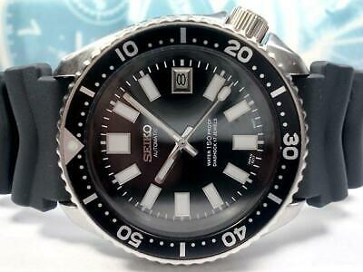 $ CDN613.36 • Buy Seiko Vintage Diver 7002-7000 Custom SS Black Automatic Mens Watch Auth Works