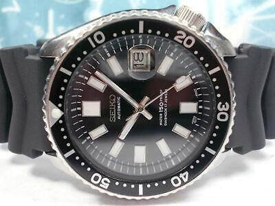 $ CDN613.36 • Buy Seiko Vintage Diver 7002-7000 Custom Black SS Automatic Mens Watch Auth Works