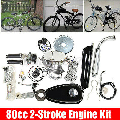 $ CDN400.72 • Buy 80cc 2Stroke Cycle Bike Engine Motor Petrol Gas Kit Fit Motorized Bicycle Chrome