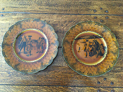 Vintage Ridgways Pottery Pair Of Coaching Days Plates • 7.99£