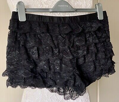 Zara TRF Collection Black Lace Shorts Size L • 2.90£