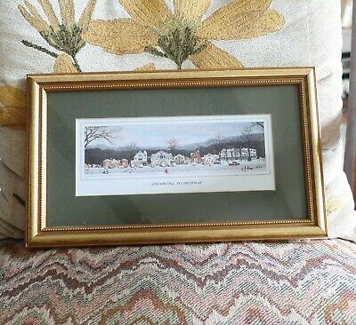 $ CDN24 • Buy Norman Rockwell Stockbridge At Christmas Print In Gold Frame Matted 12  X 7