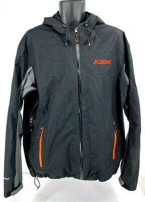 $ CDN184.55 • Buy Klim Mens Stow Away Jacket Gore-Tex Black & Red Hooded Scotchlite $259 SZ XL EUC