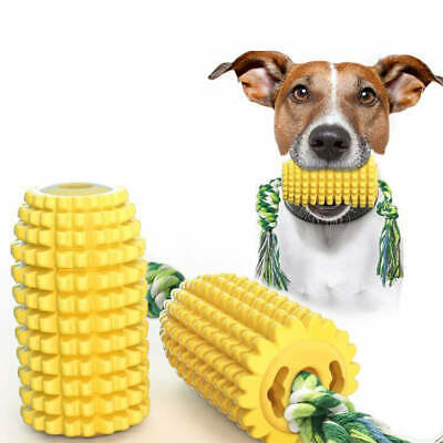 AU15.99 • Buy Corn Shaped Dog Chew Toy Bite-Resistant Tough Rope Teeth Cleaning Dental Care