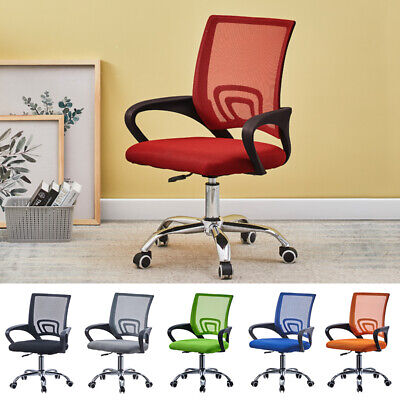 £30.99 • Buy Cushioned Computer Desk Office Chair Chrome Legs Lift Swivel Small Adjustable UK