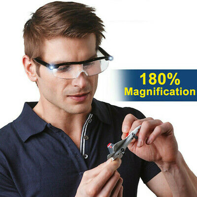 LED Magnifying Glasses Loupes 180% Magnifier Glasses With Led Lighting Lamp • 12.99£