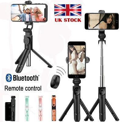 Selfie Stick Telescopic Bluetooth Tripod Monopod Phone Holder For IPhone Samsung • 6.69£