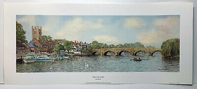 £20 • Buy Henley On Thames Stunning Painting Print By Artist Robin Davidson