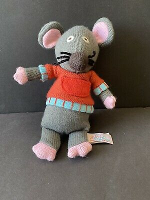"""£9.29 • Buy Latitude Enfant Gray & Pink Knit Marie The Mouse Red Sweater 9"""" Stuffed Animal"""