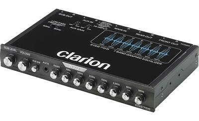 $79.99 • Buy Clarion EQS755 Car Audio 7-Band Graphic Equalizer With Front 3.5mm Auxiliary