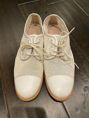 £21.71 • Buy JIL SANDER Women's White Perforated Dress Shoes Sz 35 Made In Italy Sz 5 US