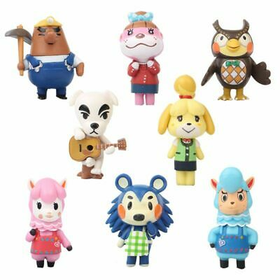 8PCS Animal Crossing Action Figures Reese Blathers Isabelle Mabel Cake Toppers • 11.58£