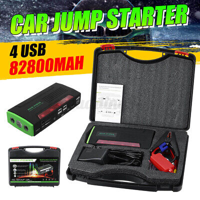 AU61.79 • Buy 82800mAh Portable Battery LCD Car Jump Starter Power Bank Vehicle Charger Engine