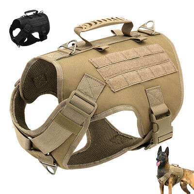 AU36.99 • Buy Military Tactical K9 Dog No Pull Harness Large Dogs Service Training Vest&Handle