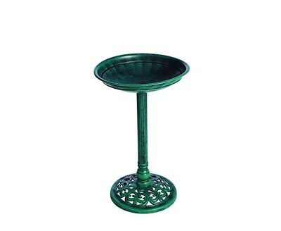 Gardman A01273  Verdegris  Effect Plastic Bird Bath - Green • 14.99£
