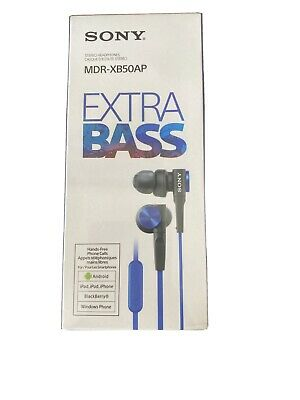 Sony MDR-XB50AP In-Ear Extra Bass Headphones With In-Line Control - Blue • 27.50£