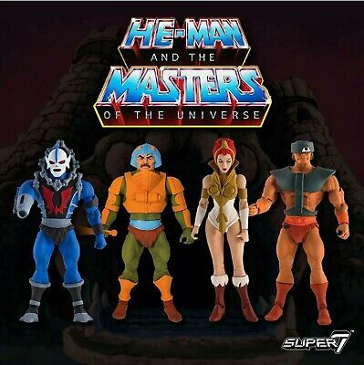$799 • Buy SUPER7 MASTERS OF THE UNIVERSE CLUB GRAYSKULL W1 SET OF 4 Case Fresh New