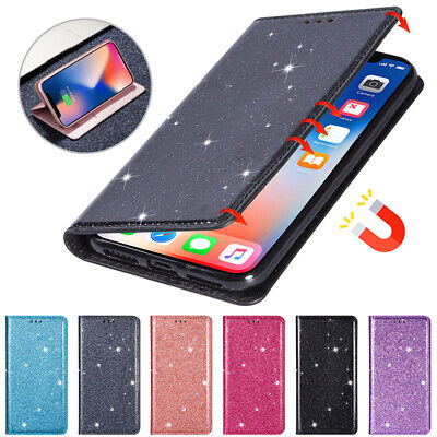 $ CDN8.79 • Buy Glitter Wallet Case Magnetic Flip Cover For Samsung Galaxy Note20 Ultra 10+ 9 8