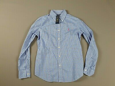 Women's Ralph Lauren Gingham Oxford Shirt Blue And White Checked - Size 12UK • 34.95£