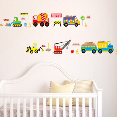 Transport Vehicles Car Stickers For Kids Boy Girl Room Children Wall Decals • 4.34£