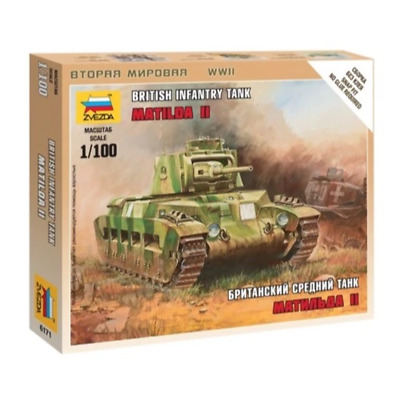 AU8.99 • Buy Zvezda 6171 1/100 Matilda II Medium Tank WWII British Brand New
