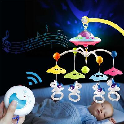 Baby Crib Mobile Musical Bed Bell With Controller Music Night Light Newborn Toy  • 26.59£
