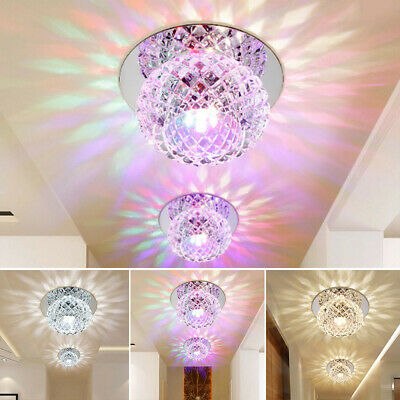 Crystal LED 5W Ceiling Light Fixture Pendant Lamp Lighting Chandelier Spot UK • 6.98£