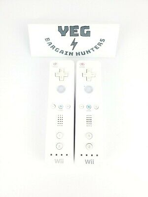 $ CDN28.49 • Buy Lot Of 2 Official Nintendo Wii Remote Controller White Canadian Seller Tested